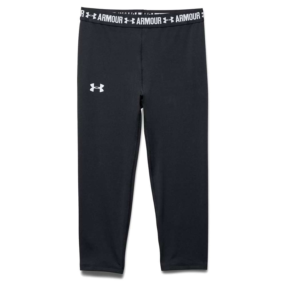 Under Armour Girls' Armour Capri - Medium - Black / Black / White