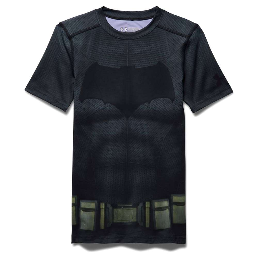 Under Armour Boys' Batman SS Suit - Small - Graphite / Black