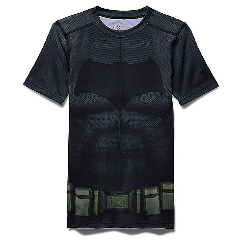 Under Armour Boys' Batman SS Suit Graphite / Black