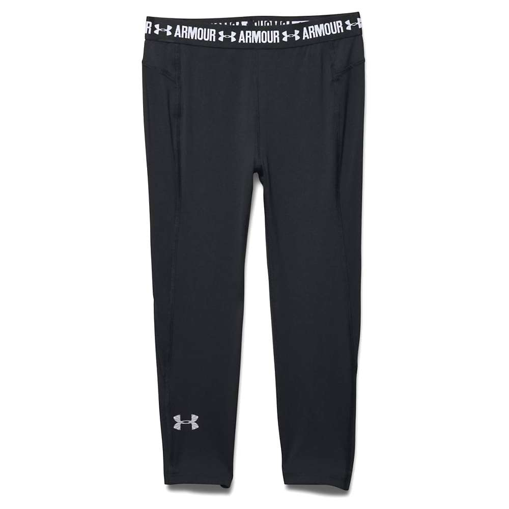 Under Armour Girls' Coolswitch Capri - XS - Black / Black / Reflective