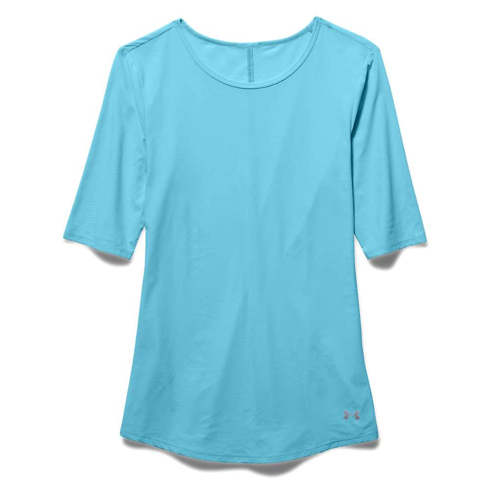 Under Armour Women's Coolswitch Run SS Top - XL - Sky Blue / Reflective