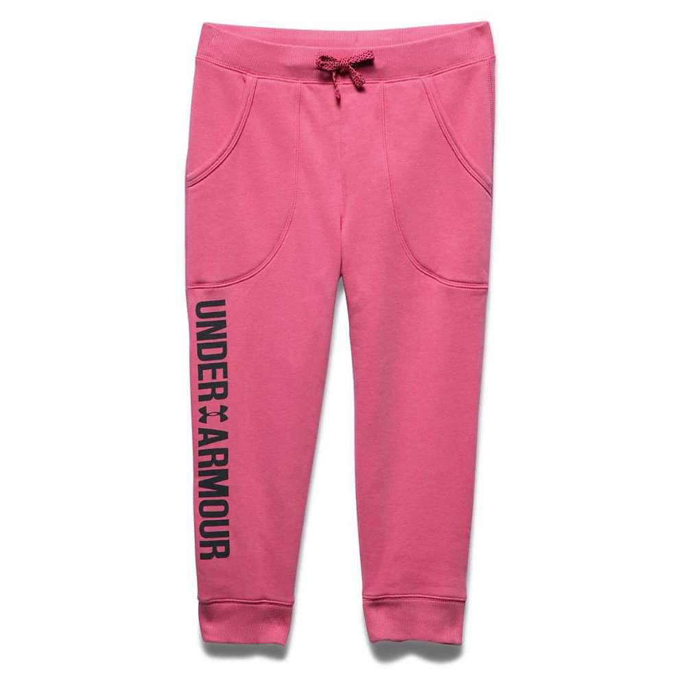 Under Armour Girls' Favorite Fleece Capri - Small - Super Pink / Black