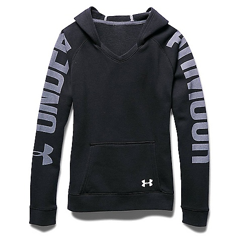 Under Armour Girls' Favorite Fleece Hoody Black / White / White