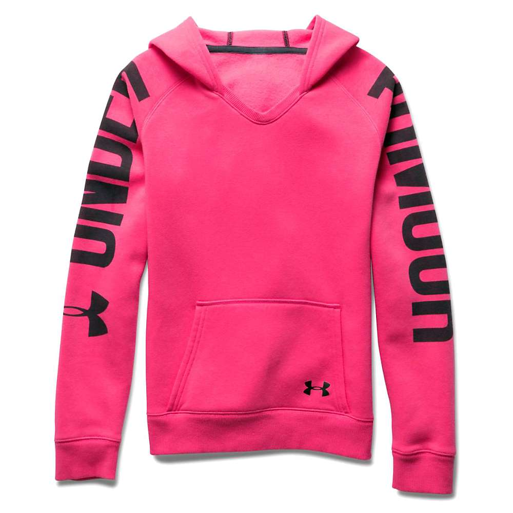 Under Armour Girls' Favorite Fleece Hoody - XS - Perfection / Black