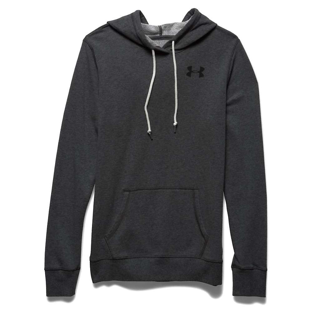 Under Armour Women's Favorite French Terry Popover - Medium - Carbon Heather / Black