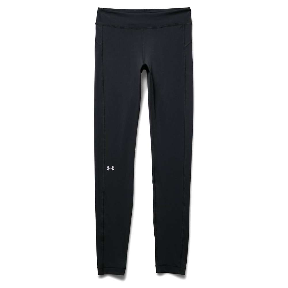 Under Armour Women's Heatgear Armour Legging - XS - Black / Black / Metallic Silver