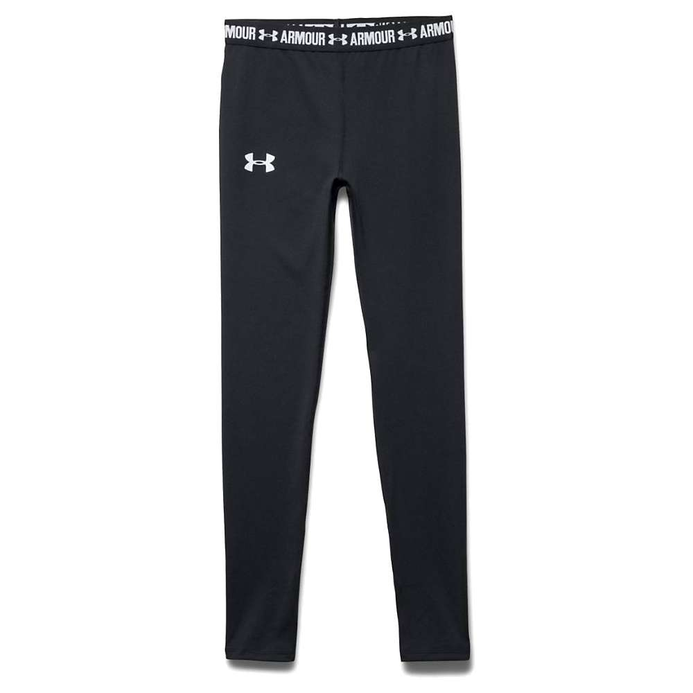 Under Armour Girls' Heatgear Armour Legging - Medium - Black / Black / White