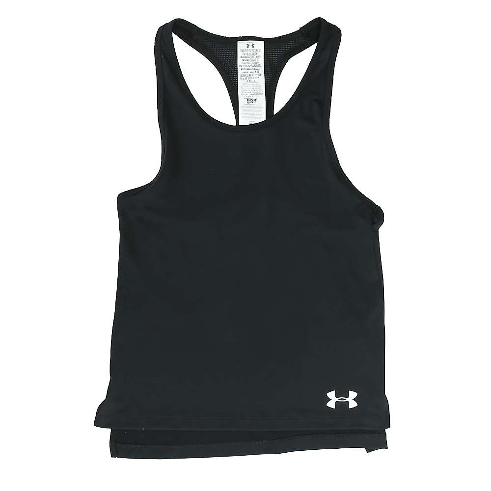 Under Armour Girls' Luna Tank - Small - Black / White
