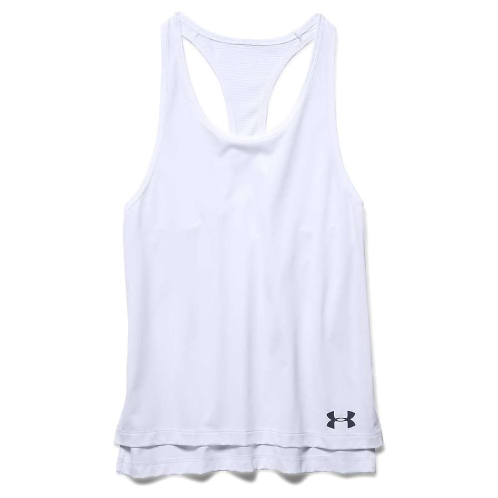 Under Armour Girls' Luna Tank - XS - White / White / Black