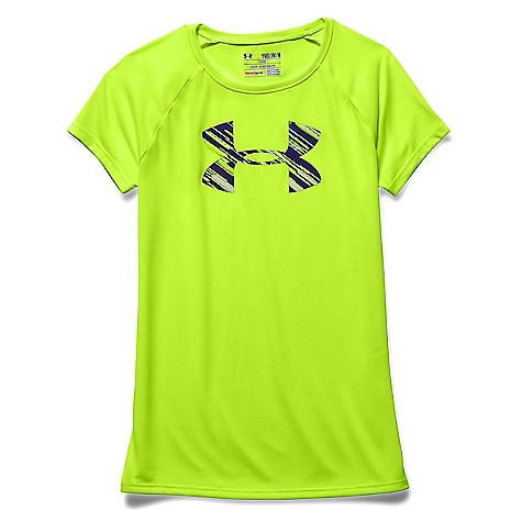 Under Armour Girls' Solid Big Logo Tech SS Tee 3041244