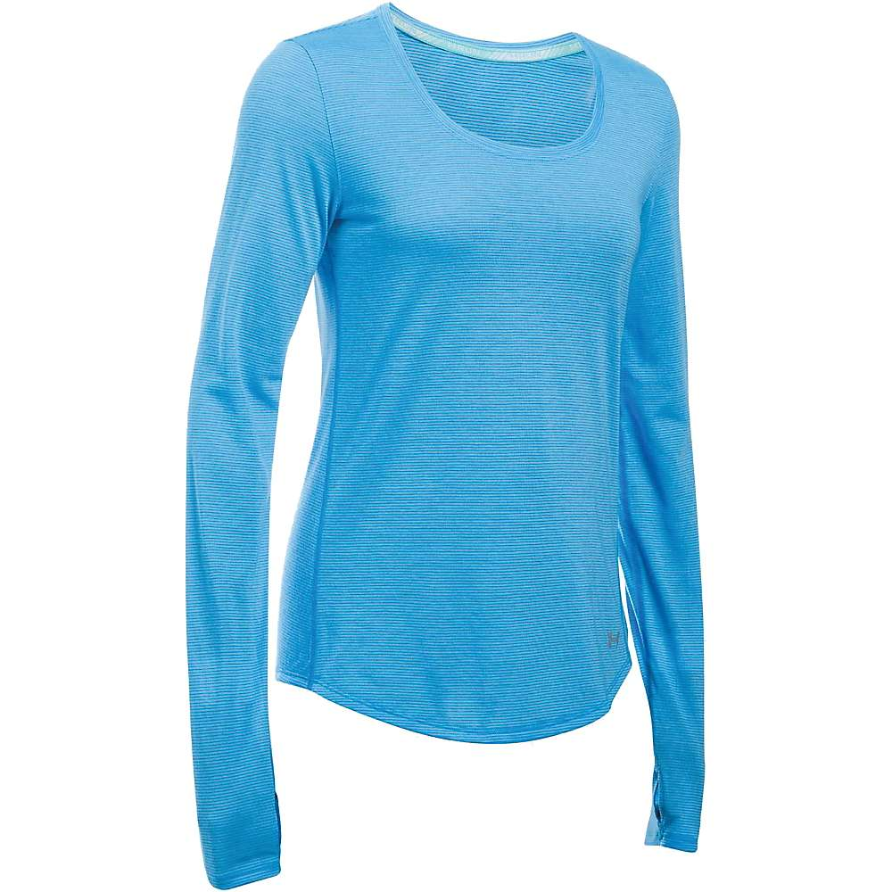 Under Armour Women's Streaker LS Top - XL - Water / Reflective