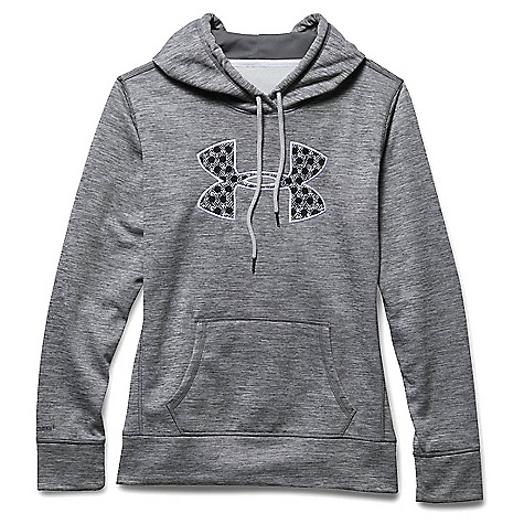 Under Armour Women's Armour Fleece Big Logo Twist Hoody Graphite / White
