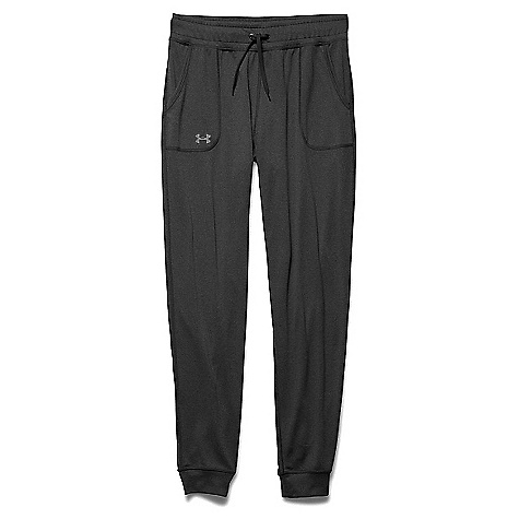 Under Armour Women's Tech Solid Pant Carbon Heather / Metallic Silver