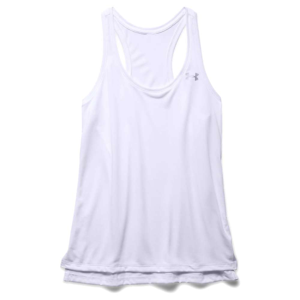 Under Armour Women's Tech Solid Tank - Large - White / Metallic Silver