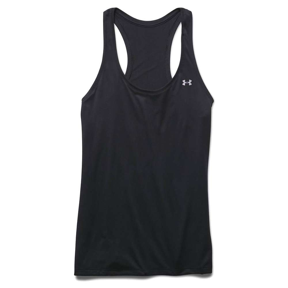 Under Armour Women's Tech Solid Tank - Large - Black / Metallic Silver