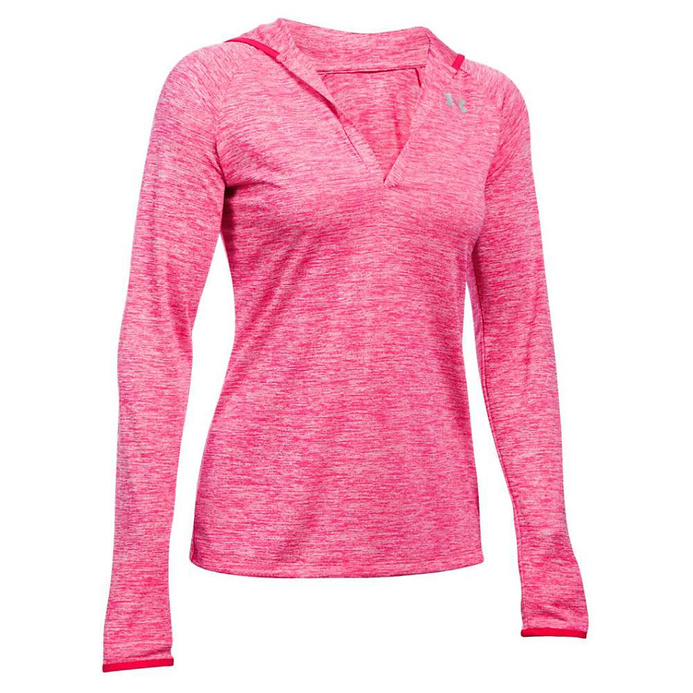 Under Armour Women's Twist Tech LS Hoody - Medium - Pink Sky / Knock Out / Metallic Silver