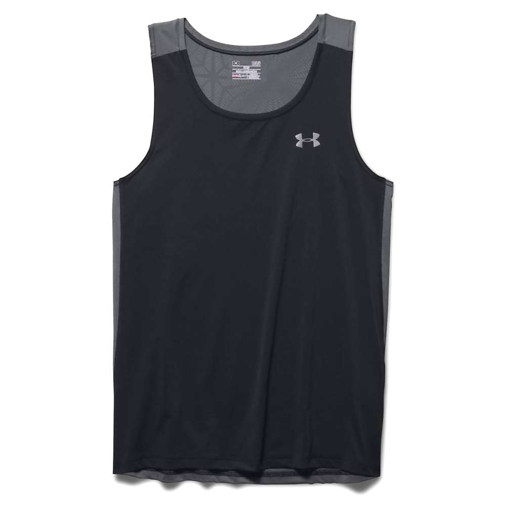 Under Armour Men's Coolswitch Run Singlet - XL - Black / Graphite / Reflective
