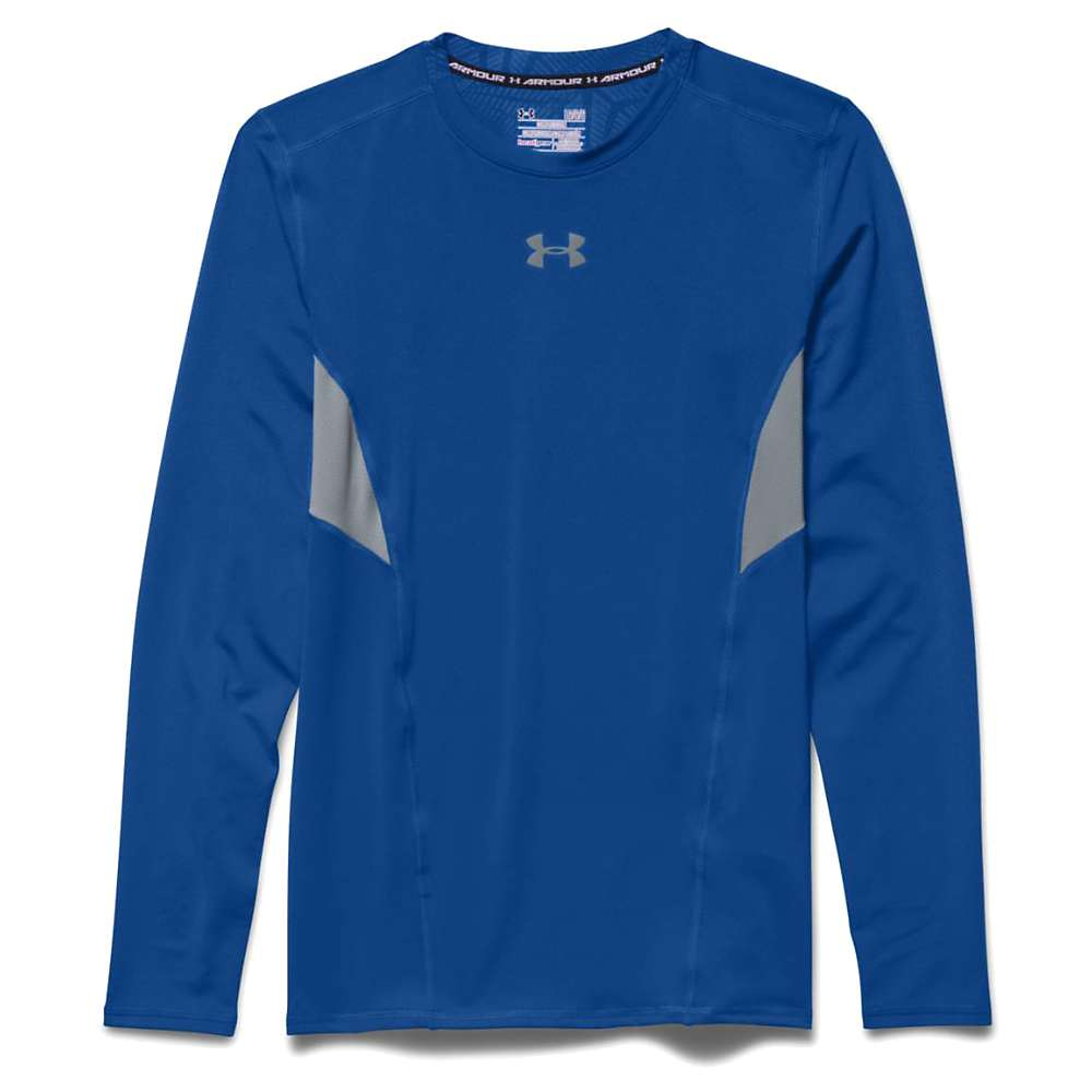 Under Armour Men's HeatGear Coolswitch Compression LS Tee - XXL - Royal / Steel / Reflective
