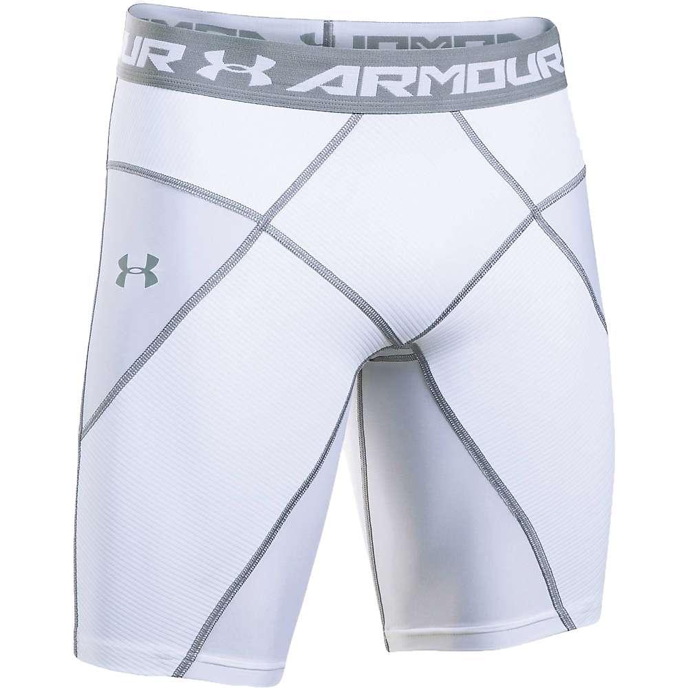 Under Armour Men's UA HeatGear Armour Core Short - XXL - White / White / Steel