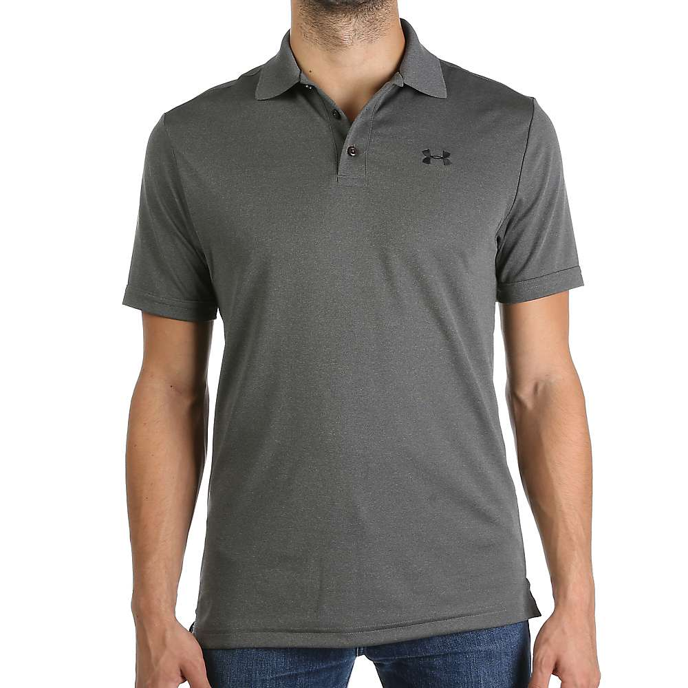 Under Armour Men's UA Performance Polo - Small - Carbon Heather / Black