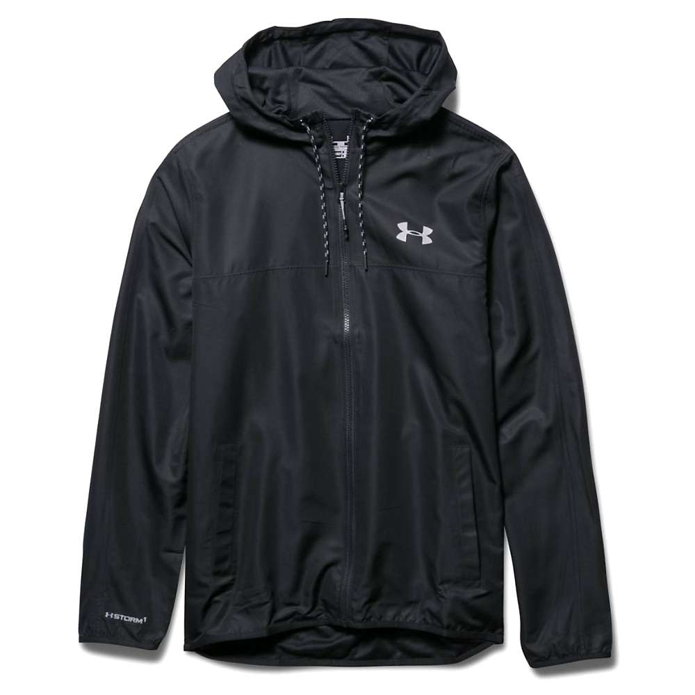 Under Armour Men's Sportstyle Windbreaker Jacket - Large - Black / Black / Steel
