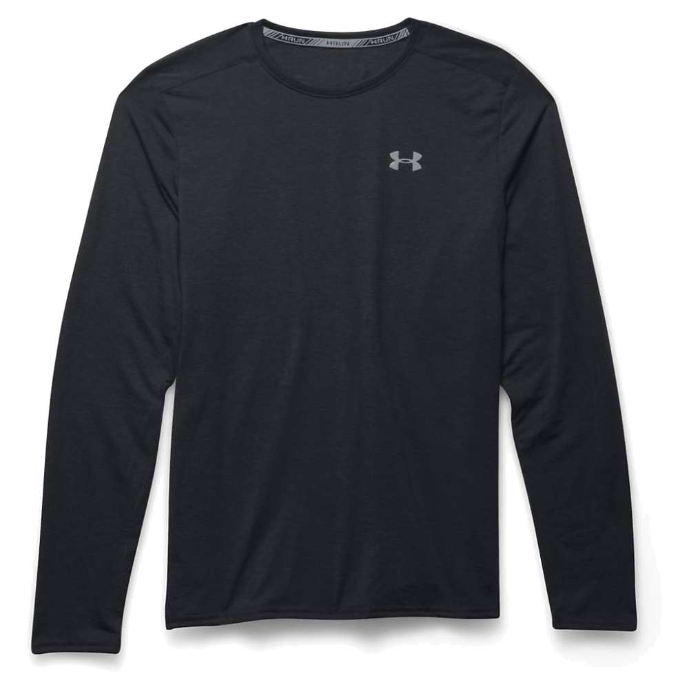 Under Armour Men's Threadborne Streaker LS Tee - 3XL - Black / Steel / Reflective