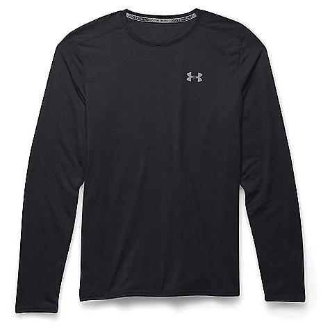 Under Armour Men's Threadborne Streaker LS Tee Black / Steel / Reflective