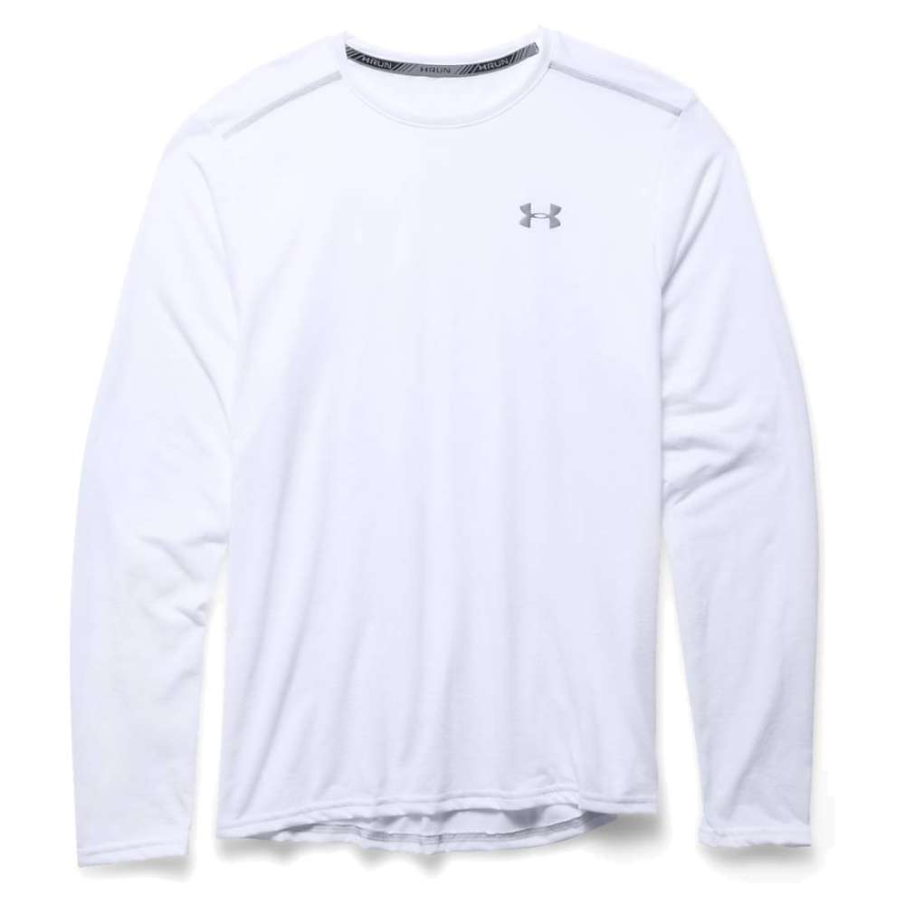 Under Armour Men's Threadborne Streaker LS Tee - 3XL - White / Steel / Reflective