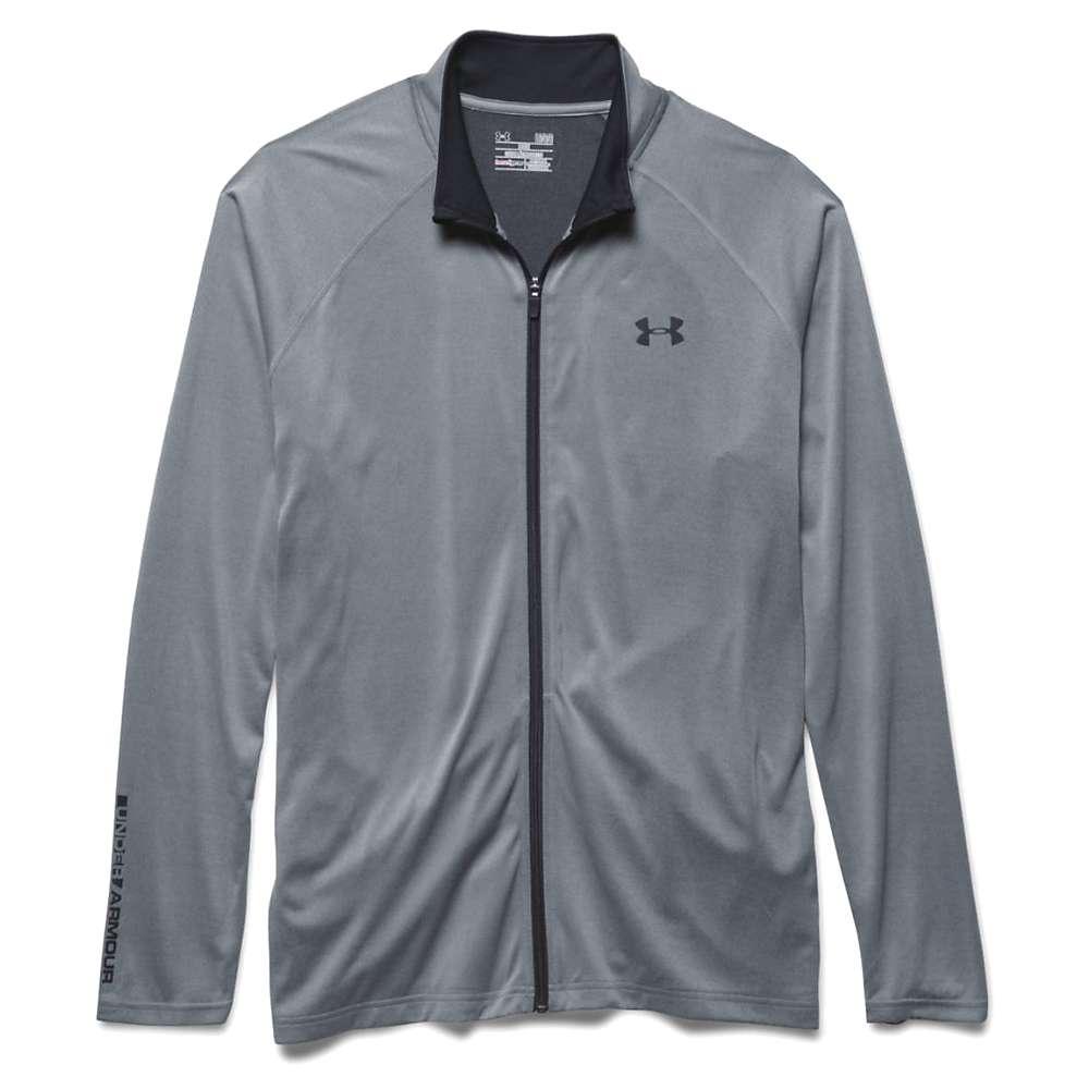 Under Armour Men's Tech Full Zip Track Jacket - XL - Steel / Black / Black