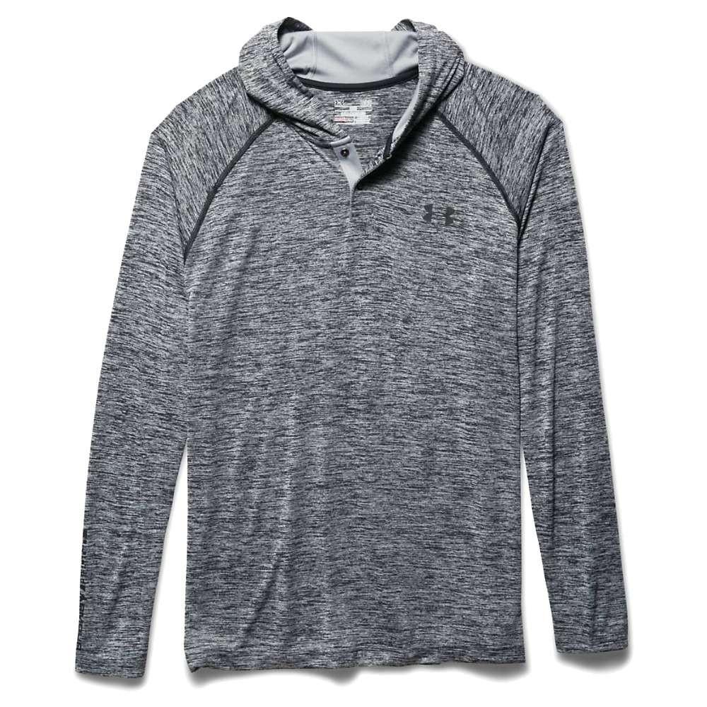 Under Armour Men's UA Tech Popover Henley - Small - Black / Black