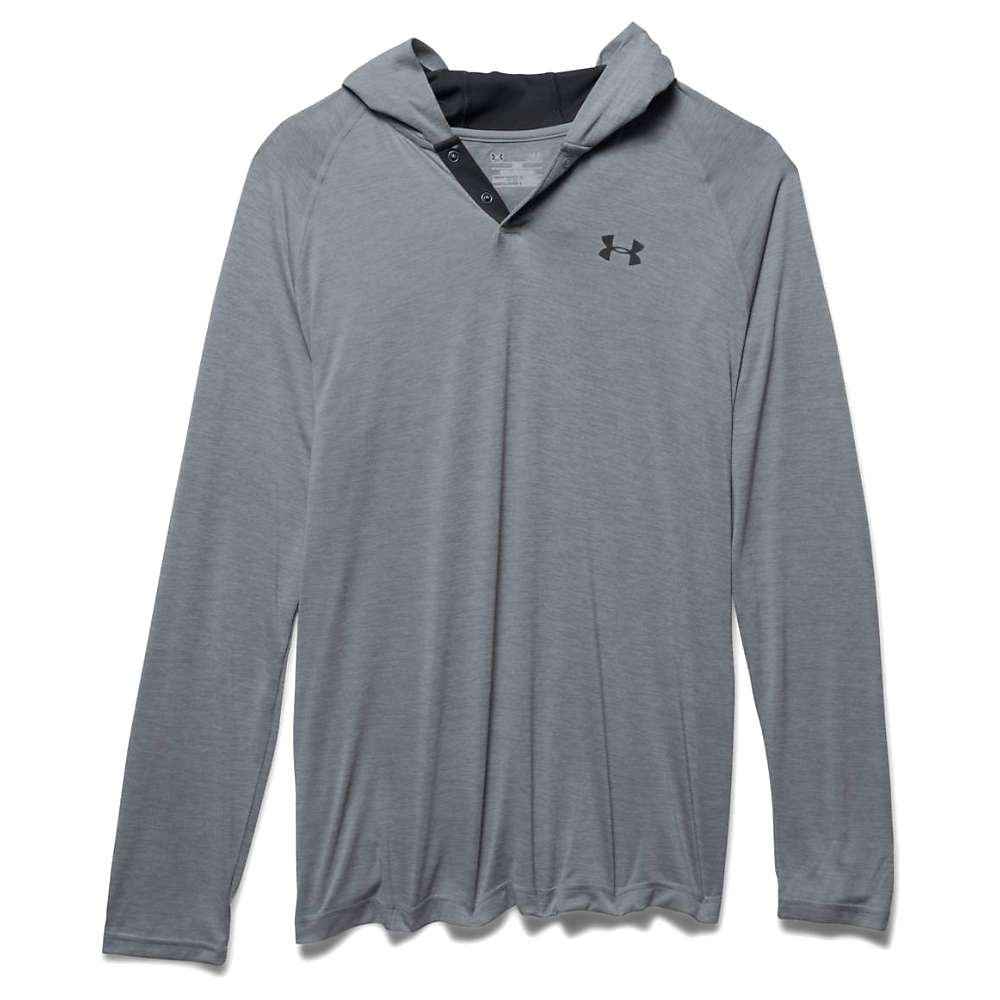 Under Armour Men's UA Tech Popover Henley - XXL - Steel / Black