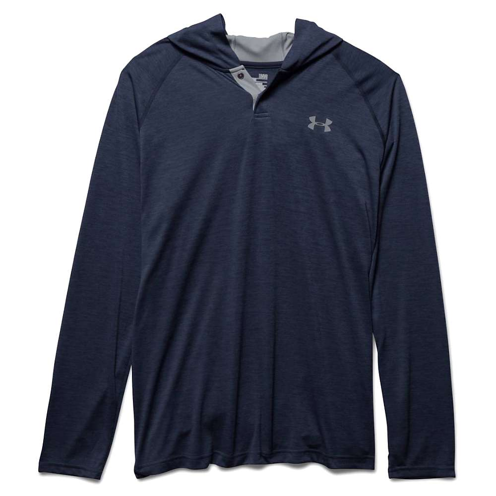 Under Armour Men's UA Tech Popover Henley - Small - Midnight Navy / Steel