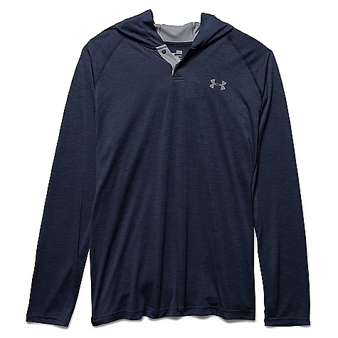 Under Armour Men's UA Tech Popover Henley Midnight Navy / Steel