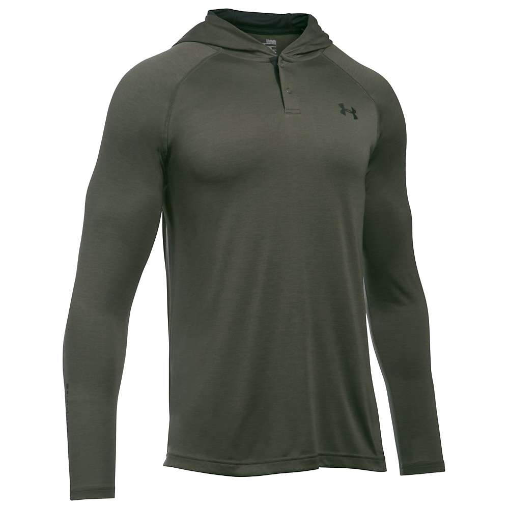 Under Armour Men's UA Tech Popover Henley - XL - Downtown Green / Black