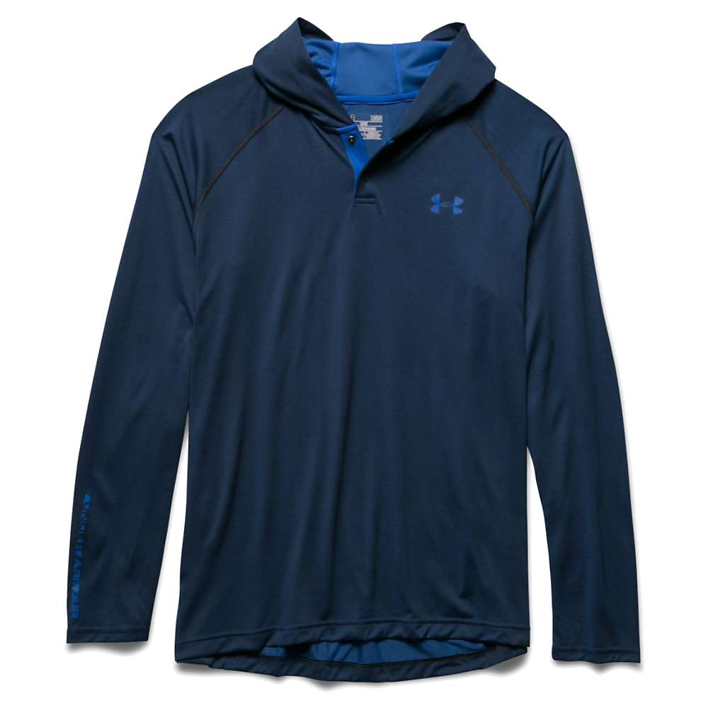 Under Armour Men's UA Tech Popover Henley - Small - Stealth Gray / Ultra Blue / Ultra Blue