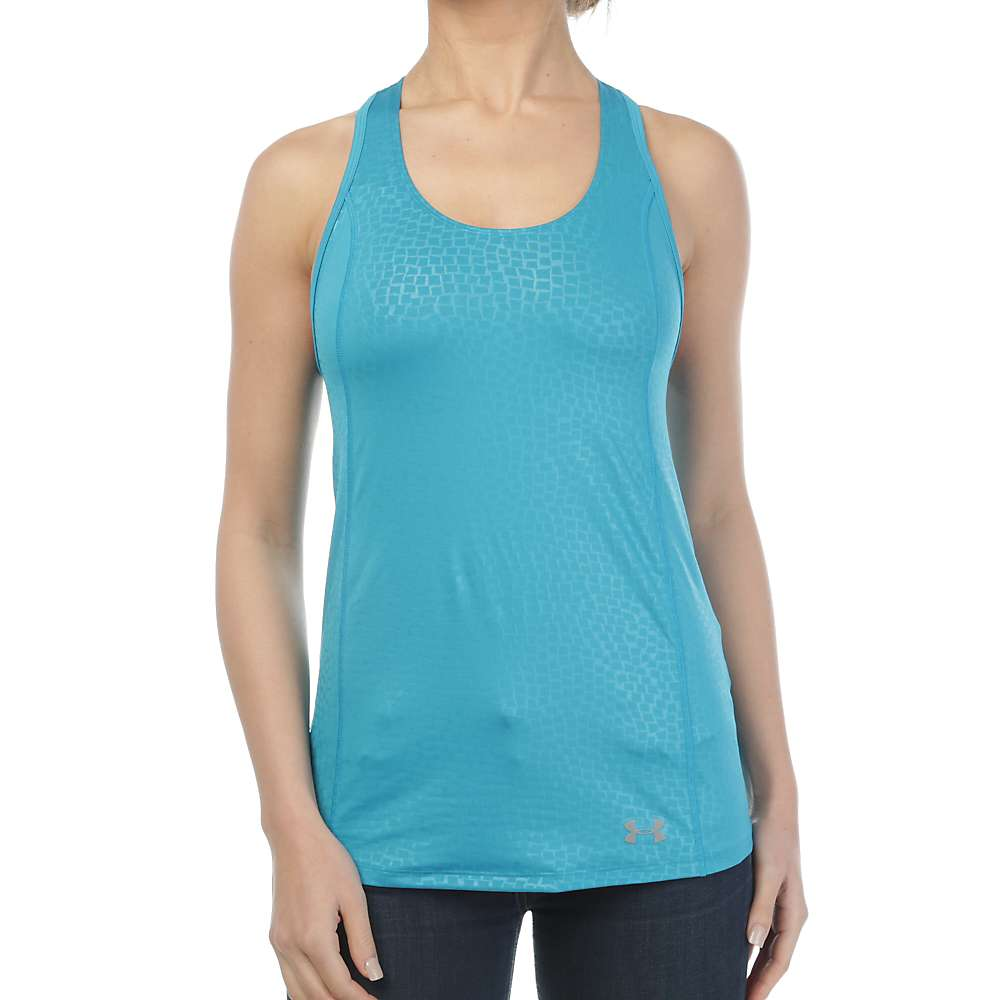 Under Armour Women's Coolswitch Trail Tank - Large - Aqua Blue