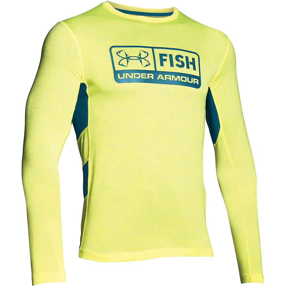 Under Armour Men's Fish Hunter Tech LS Top - XL - X-Ray / Thai Teal