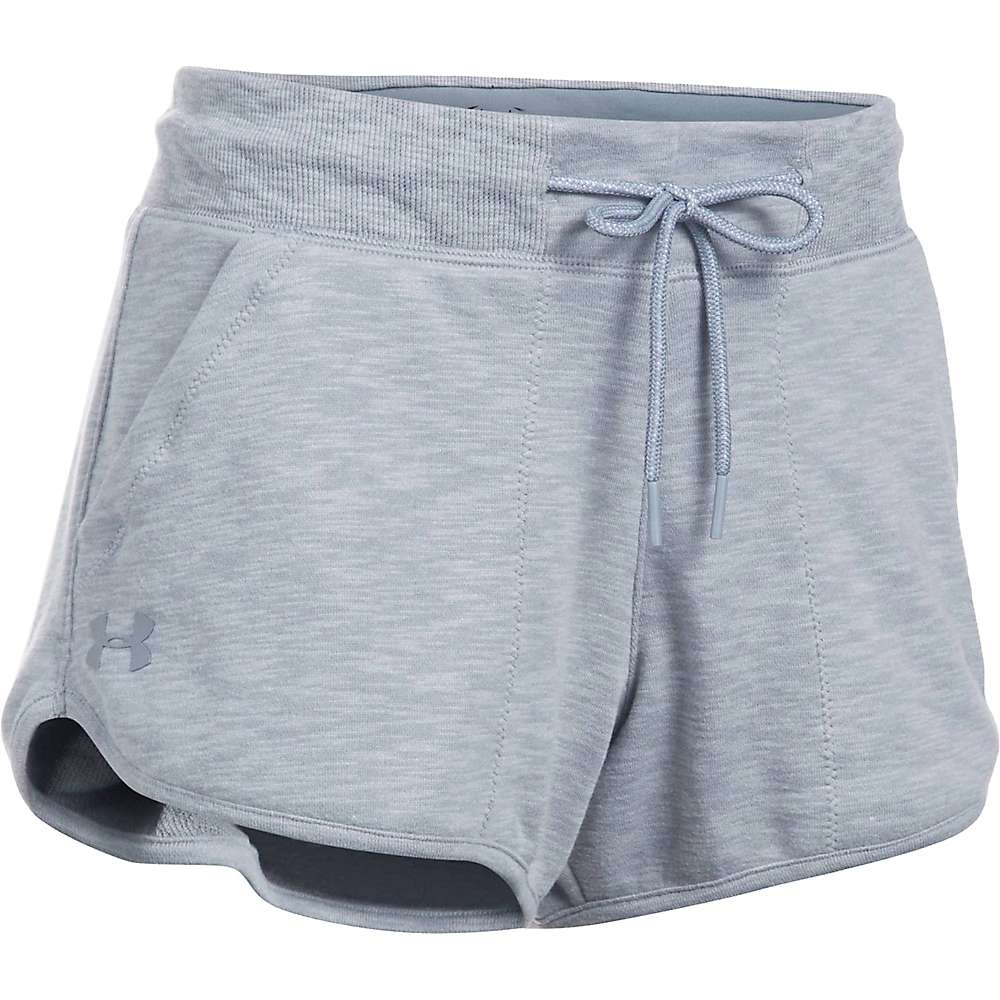 Under Armour Women's UA Ocean Shoreline Terry Short - XXL - True Grey Heather / Black