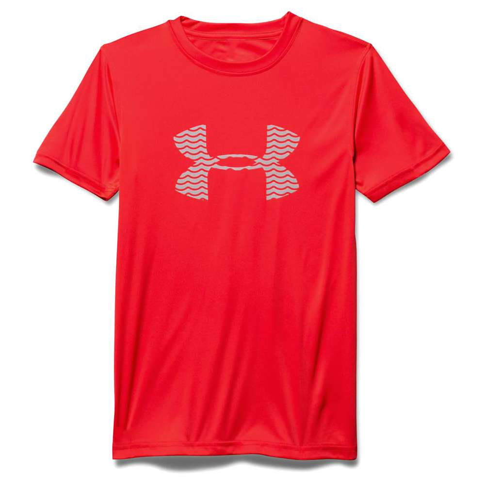 Under Armour Boy's Slasher SS Surf Tee - Large - Rocket Red