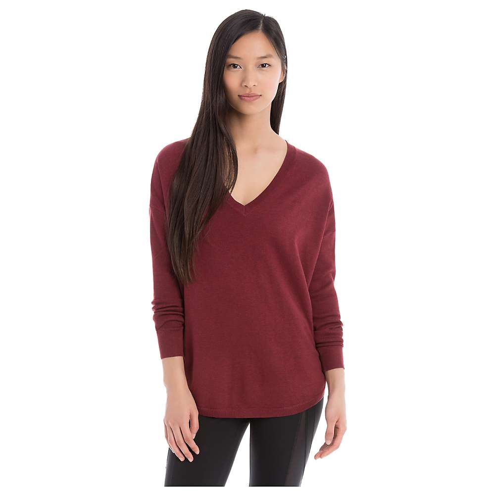 Lole Women's Martha Sweater - Large - Rumba Red Heather