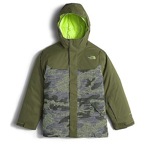 The North Face Boy's Brayden Insulated Jacket Terrarium Green Mesh Camo