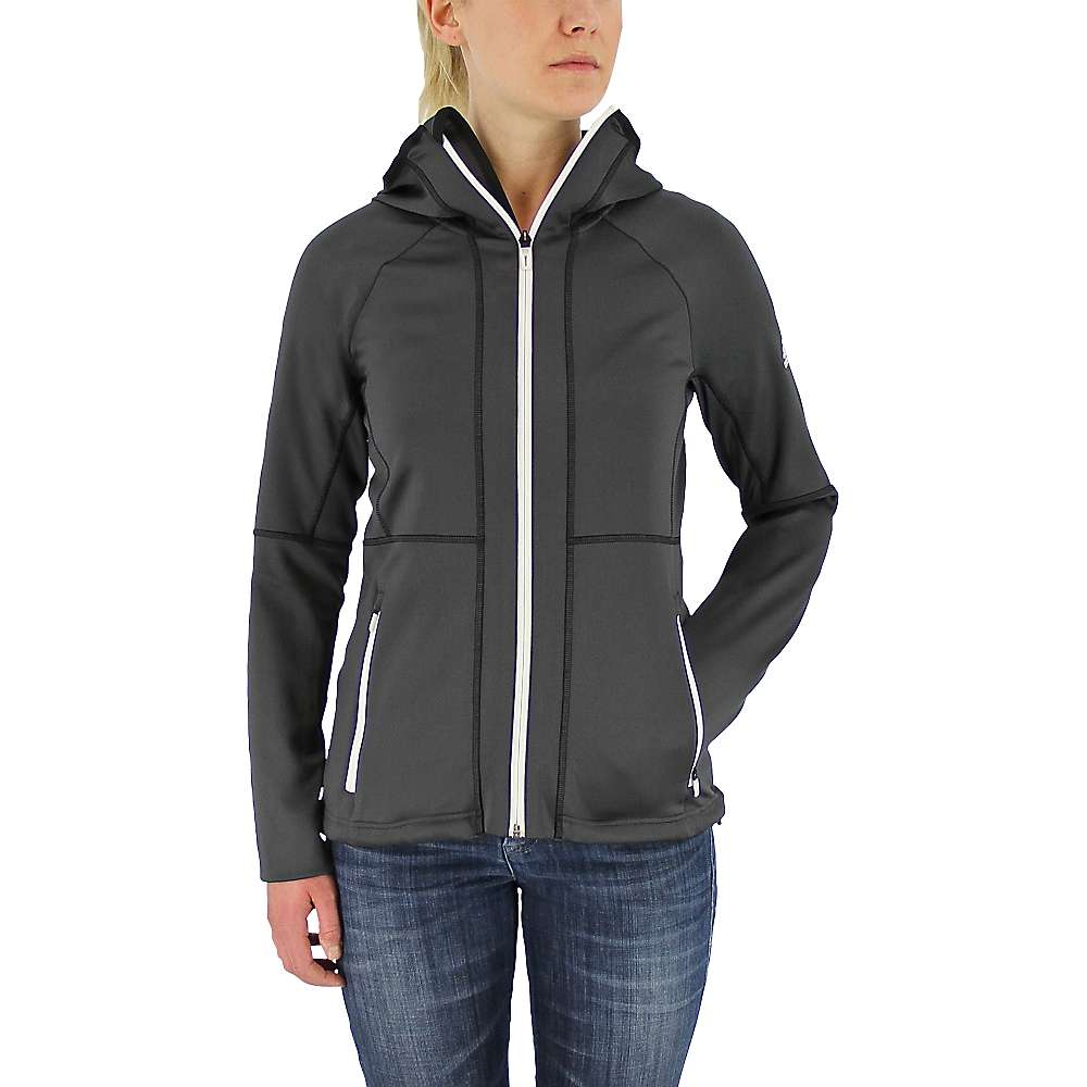 Adidas Women's 1-Side Hooded Fleece Jacket - Large - Utility Black