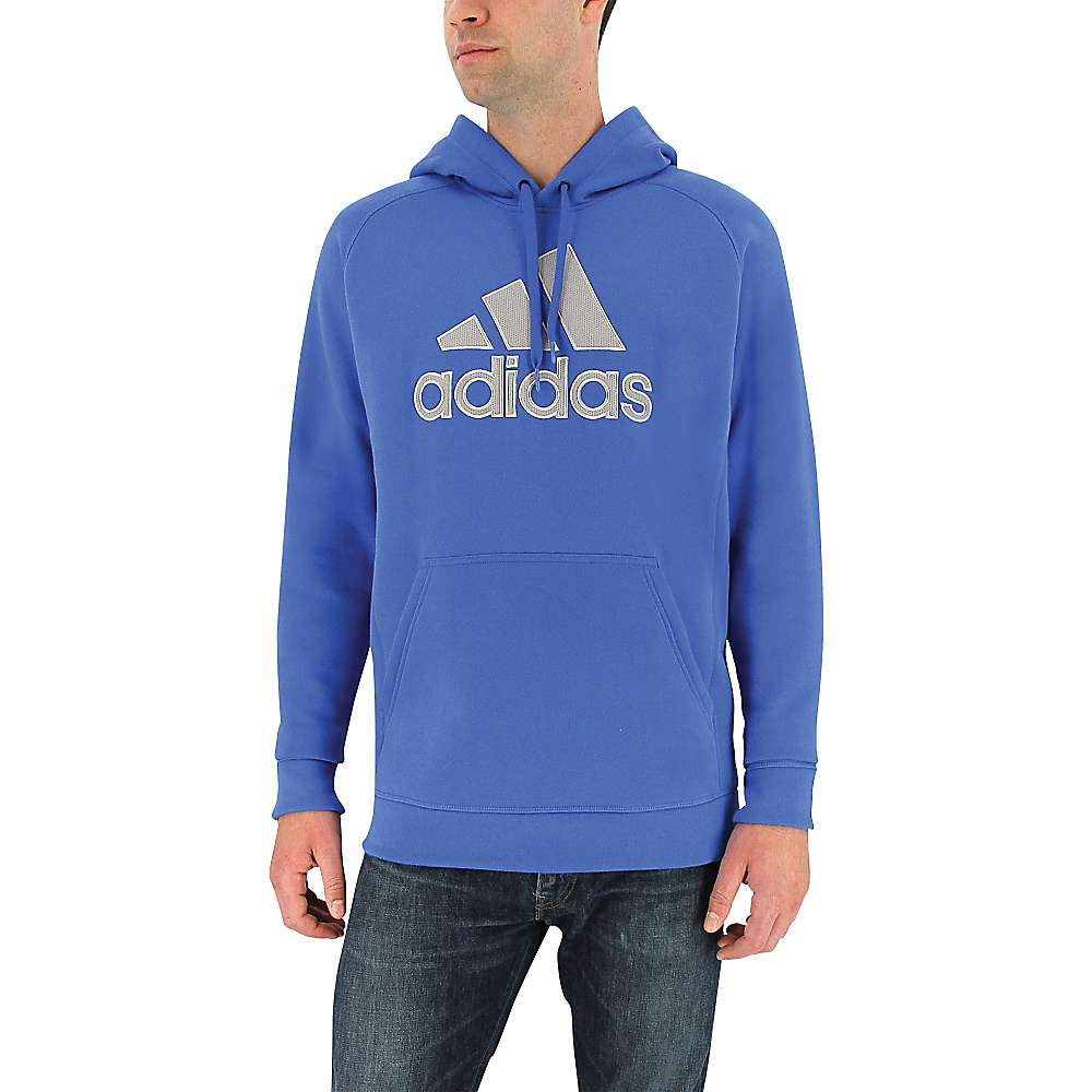 Adidas Men's Cotton Pullover Core - XXL - Blue / Mgh Solid Grey