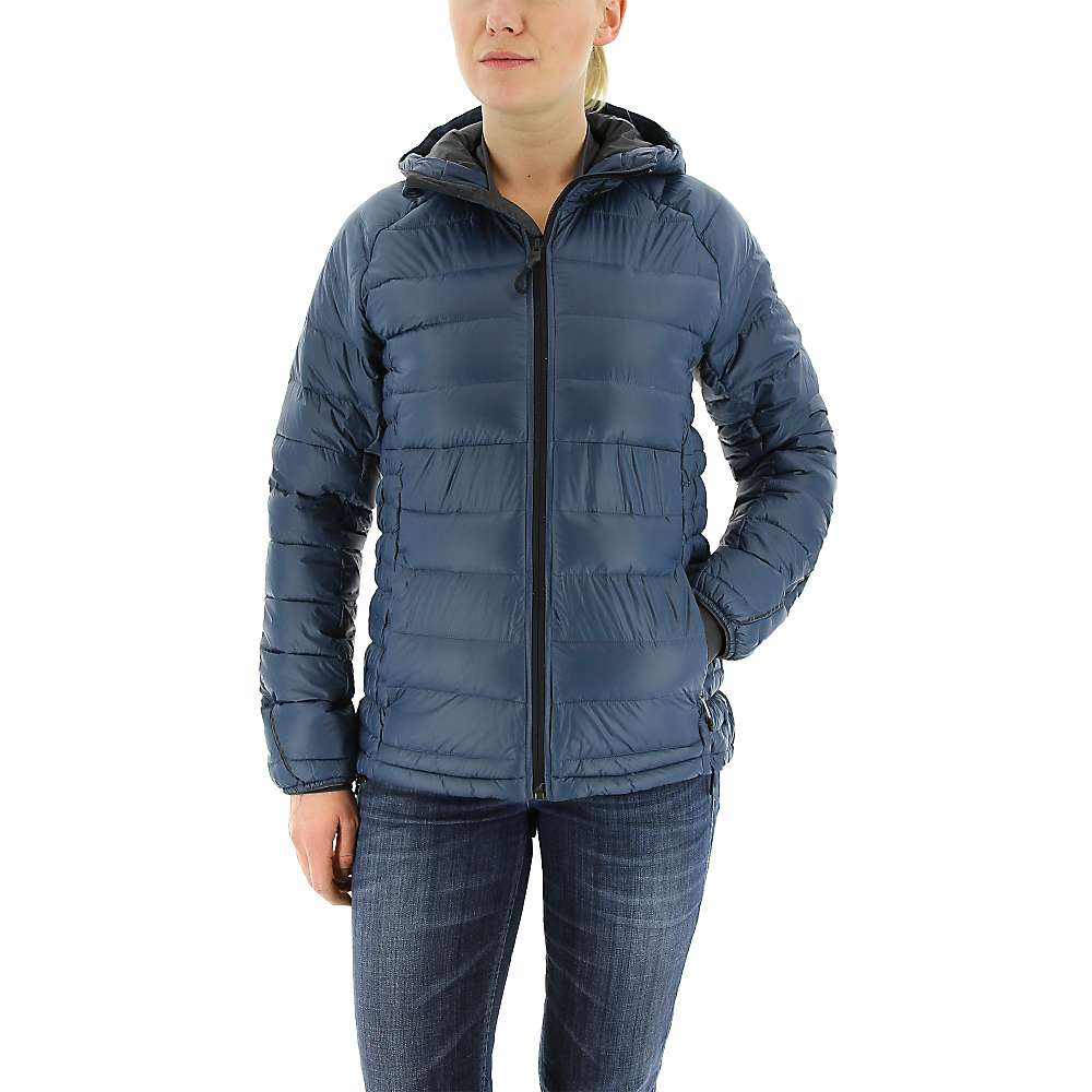 Adidas Women's Frost Hooded Jacket - Medium - Mineral Blue / Utility Black