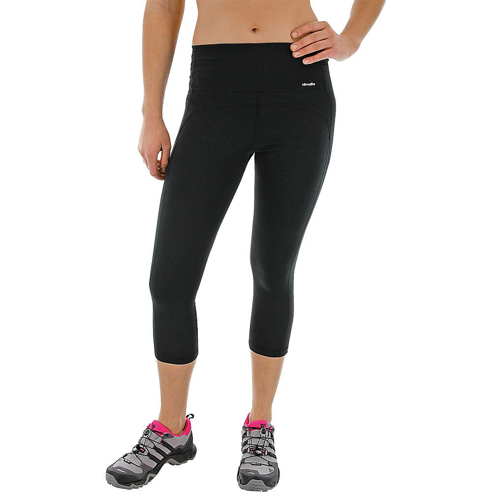 Adidas Women's Performer Mid Rise 3/4 Tight - Small - Black / Matte Silver