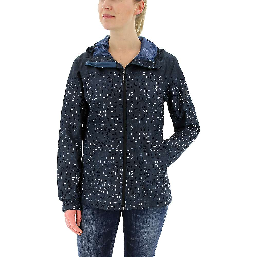 Adidas Women's Wandertag Print Jacket - Large - Mineral Blue