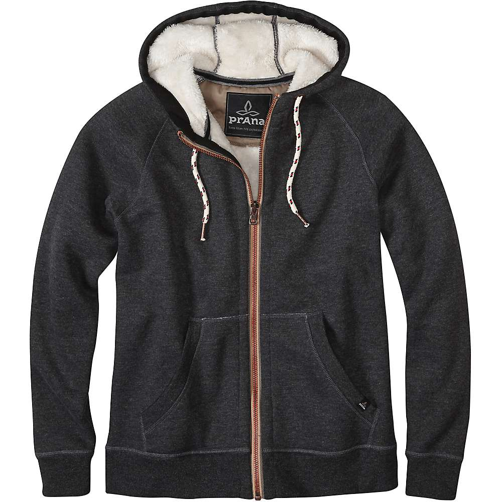 Prana Men's Lifetime Full Zip Sherpa Hood Jacket - Small - Black