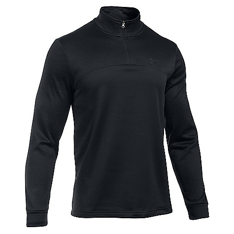 Under Armour Men's Armour Fleece Icon 1/4 Zip Top Black / Black / Black