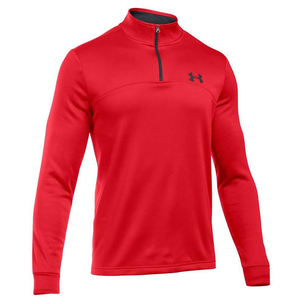 Under Armour Men's Armour Fleece Icon 1/4 Zip Top - XL - Red / Black / Black