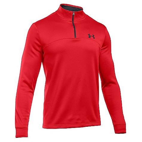 Under Armour Men's Armour Fleece Icon 1/4 Zip Top Red / Black / Black